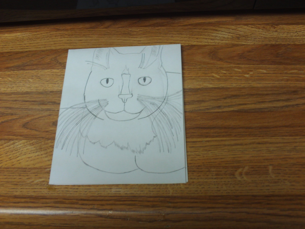 Here is my completed sketch of Bobby.