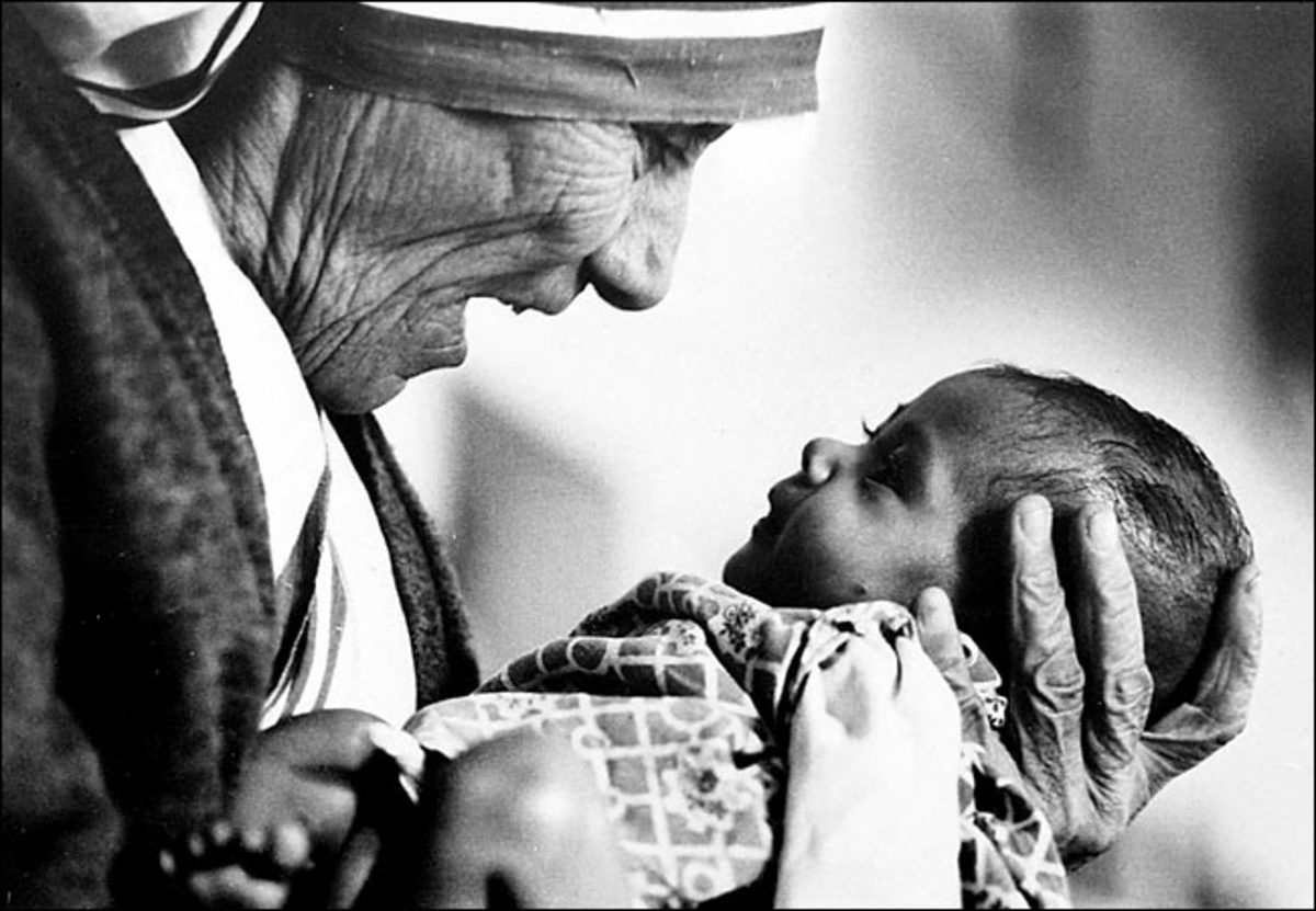 """MOTHER TERESA"" BY EDDIE ADAMS IN 1978"