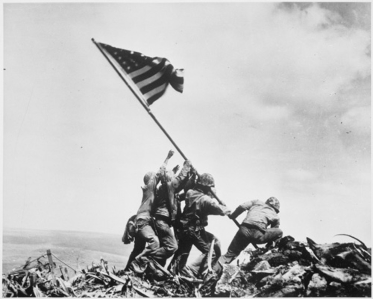 """IWO JIMA"" BY JOE ROSENTHAL IN 1945"