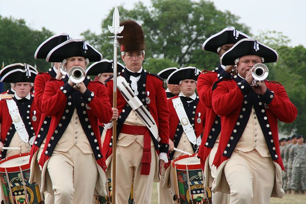 The Old Guard Fife and Drum Corps belkings to the 3rd US Infantry Regiment (The Old Guard) at Fort Myer, Va and commemorates General Geroge Washington's Continental Army, which wore red coats.