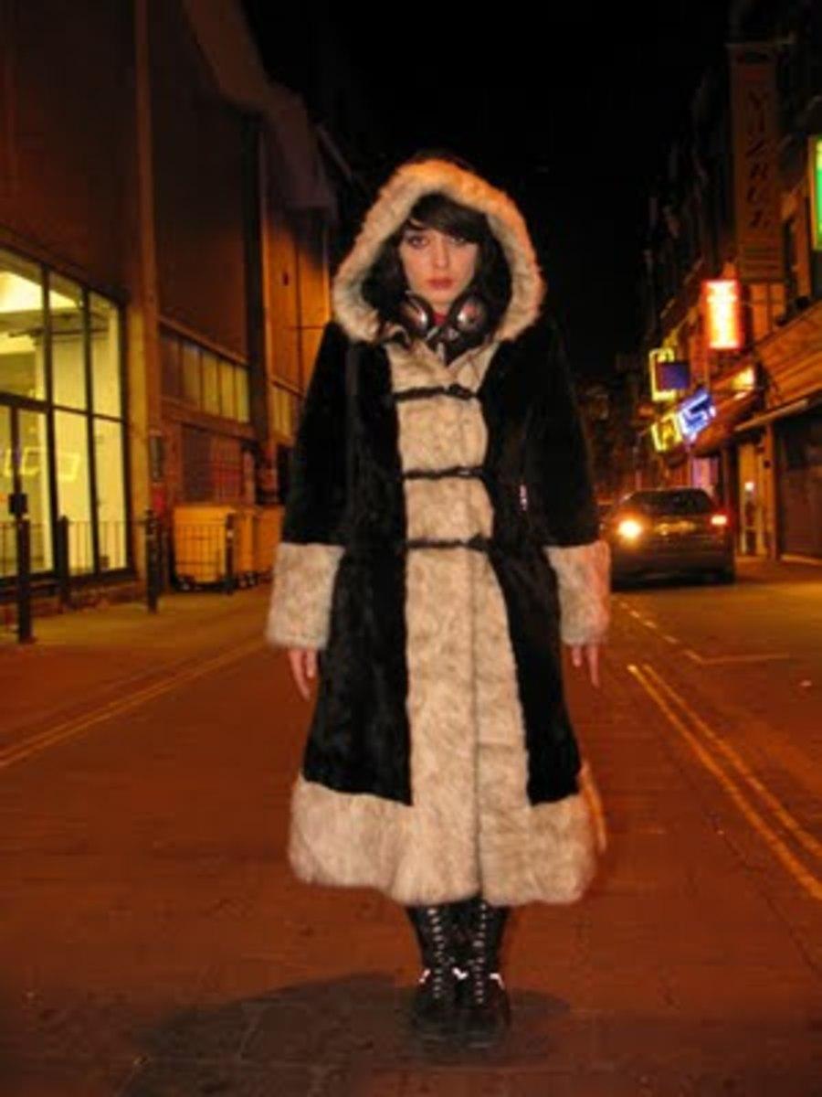 vintage hooded coat