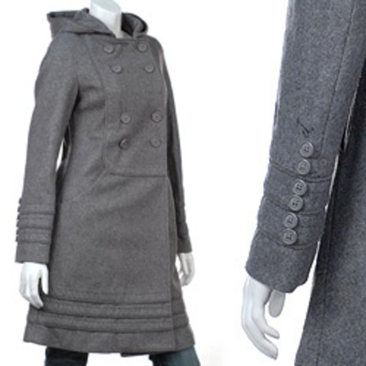 vintage style hooded coat