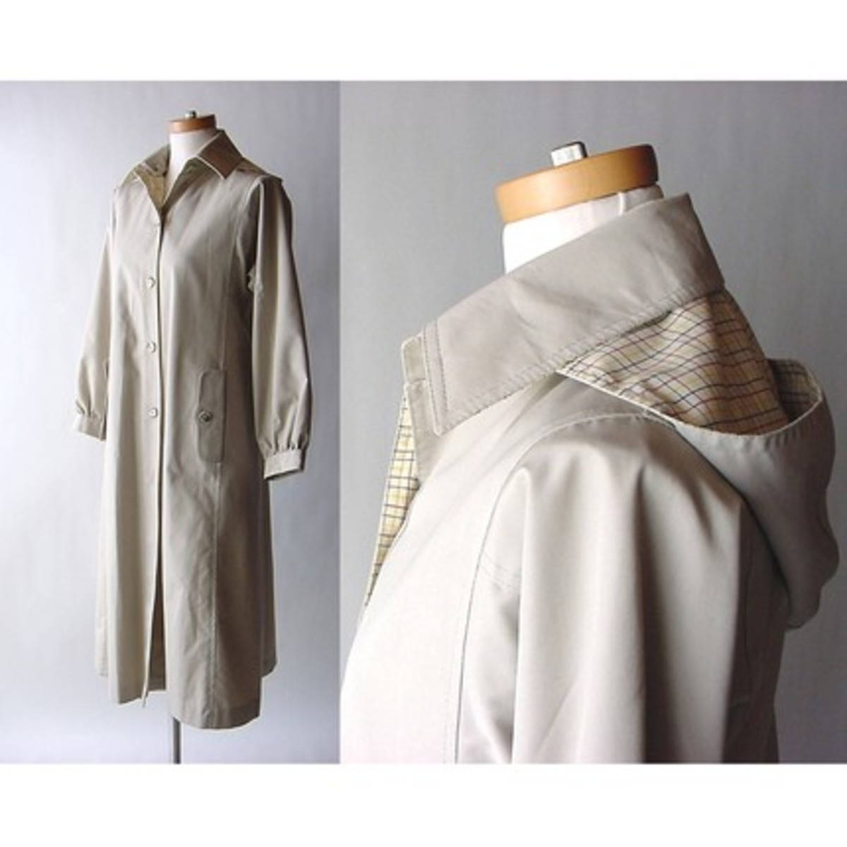 vintage trench coat from Etsy