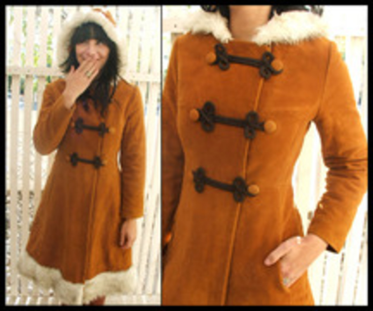 vintage hooded Russian coat