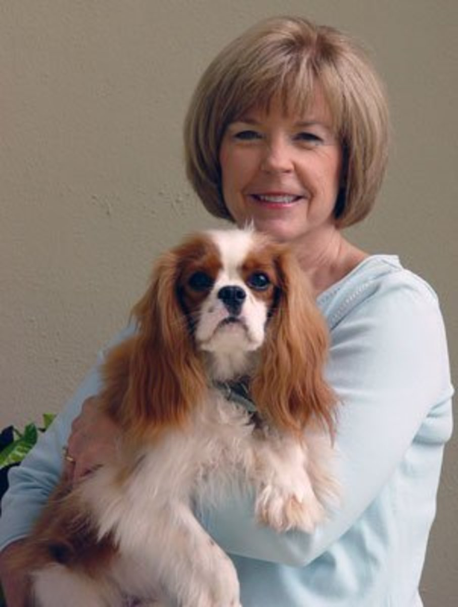 Pam Bobcock and her pet dog, Charlie