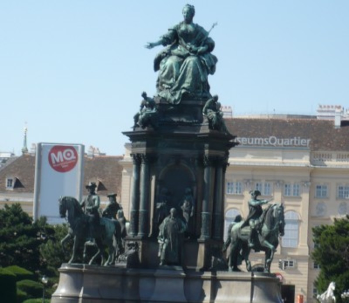 A statue of Maria Theresa holding the Pragmatic Sanction in Vienna