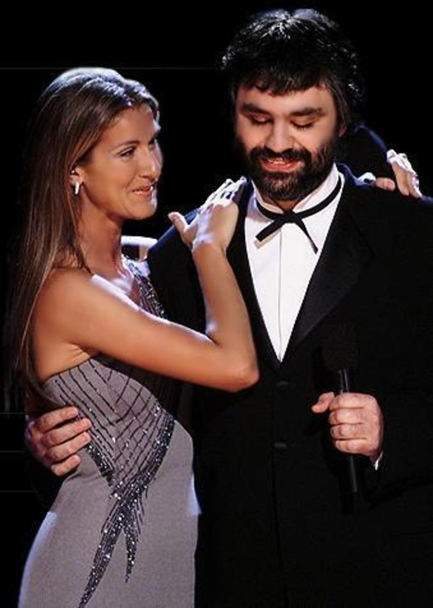 "Celine Dion and Andrea Bocelli duet of ""The Prayer"""