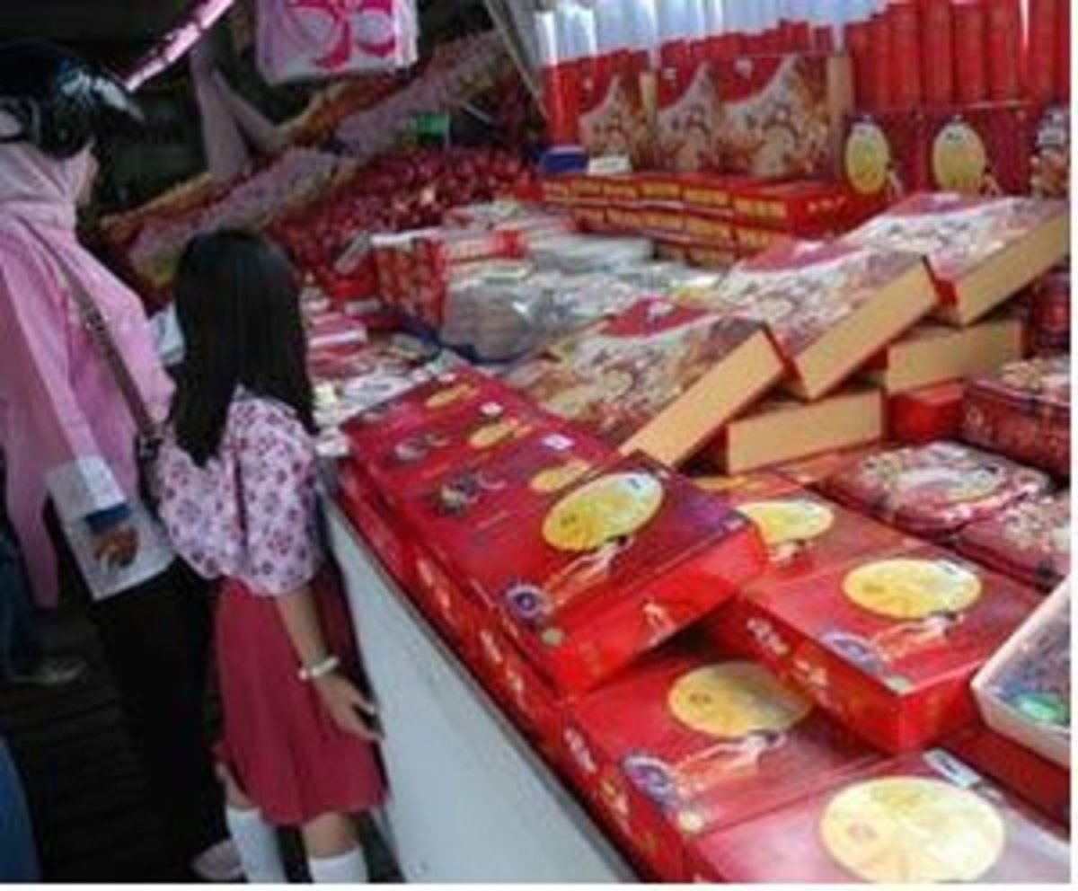 Moon Cakes in Pontianak, Borneo, Indonesia