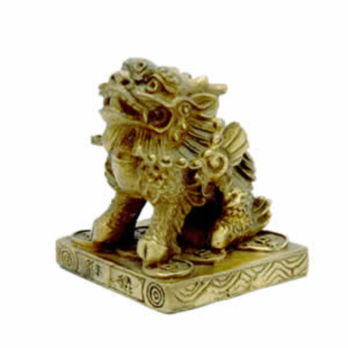 Chi Lin or Dragon Horse Feng Shui Symbol for Protection, Career Luck and Abundance