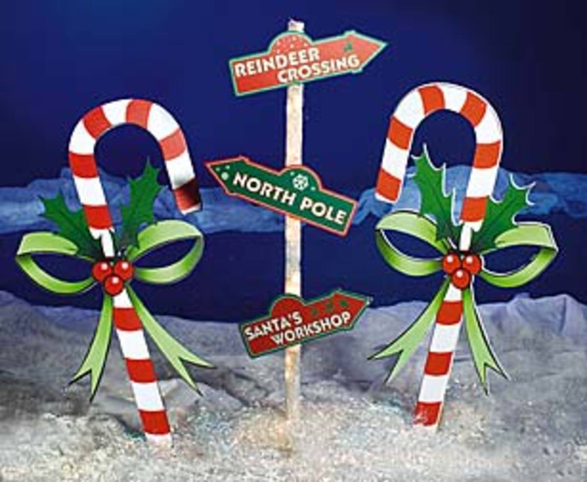 Christmas Outdoor Decorations Candy Canes : Outdoor christmas decoration ideas