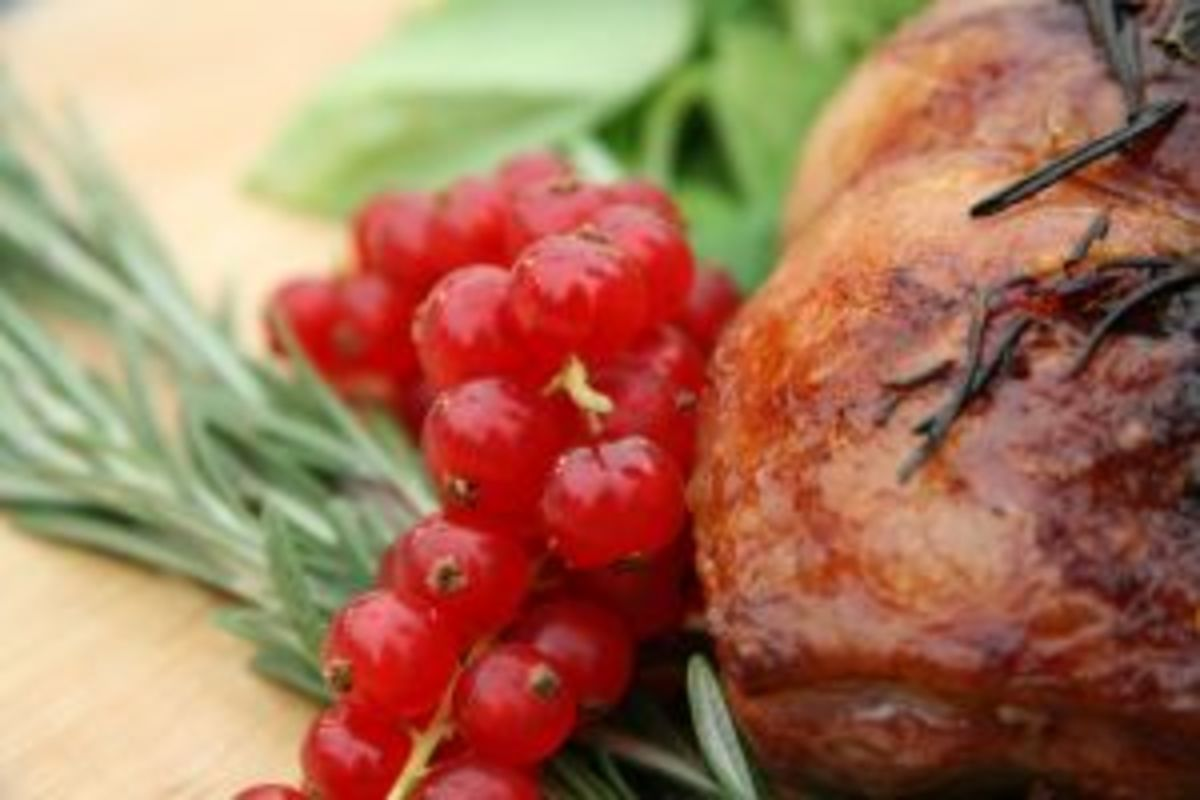 Simple garnishes make your carefully raised and prepared birds that much more appetizing. Try your favorite fruits, spices and herbs for your own presentation twist.