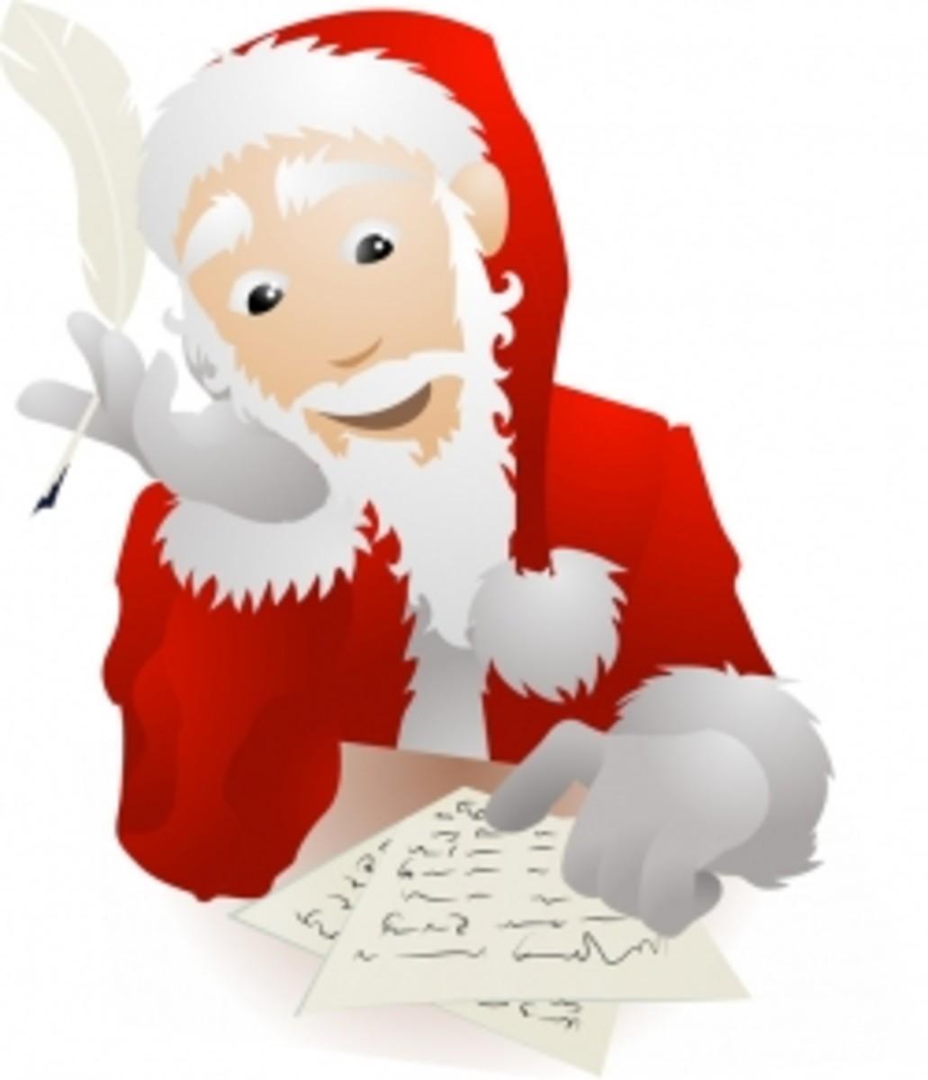 Santa Sample Letters