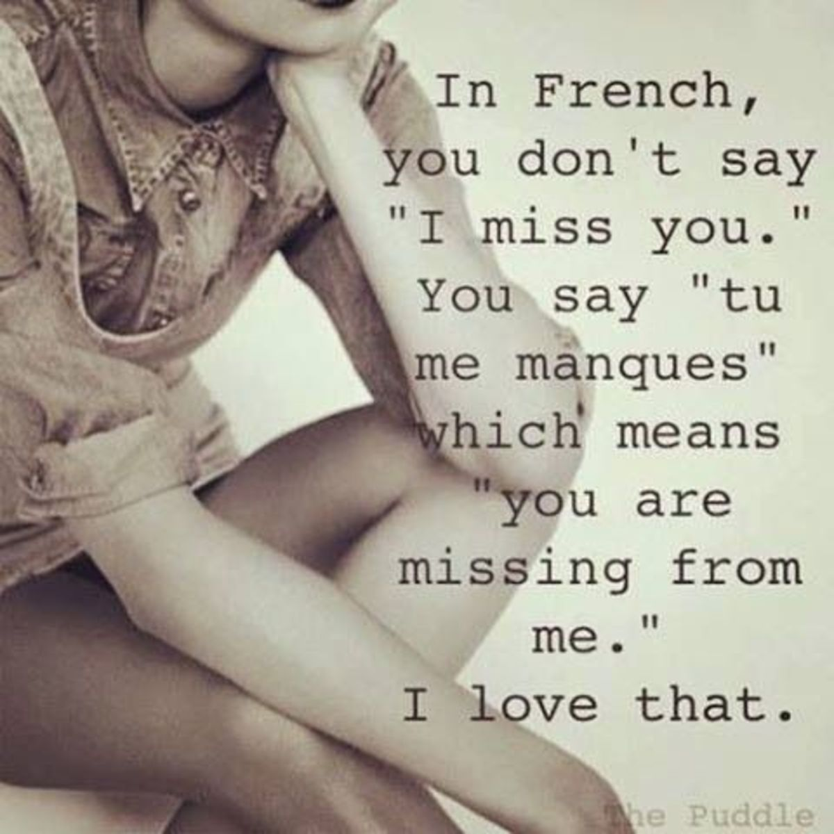 I Miss You in French is just too adorable