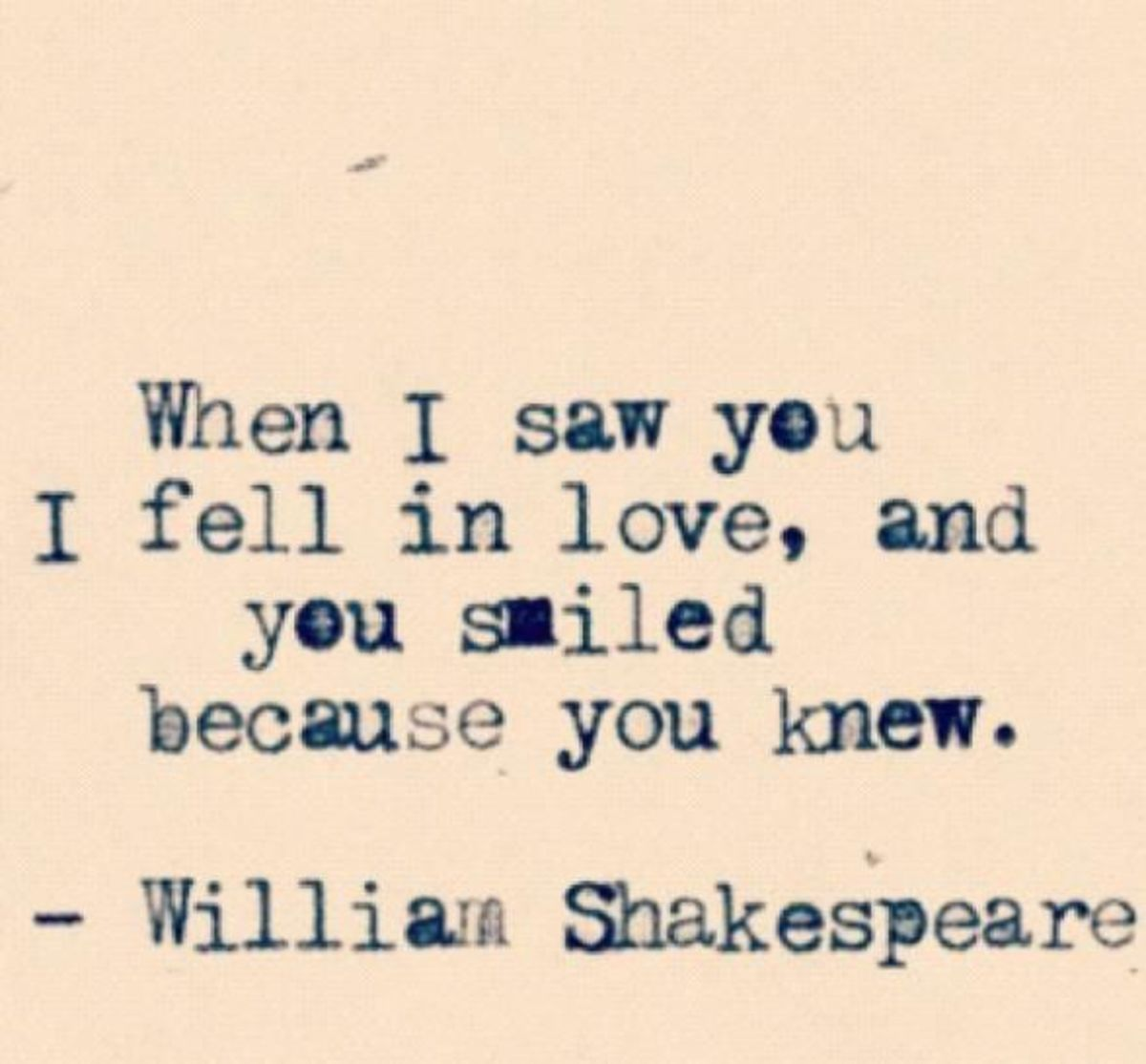 Shakespeare quote on love