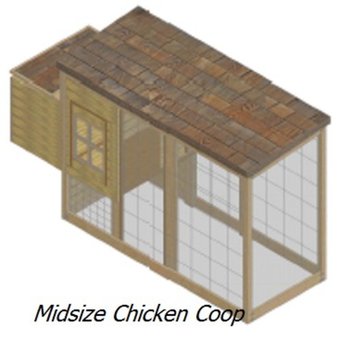 Midsize Chicken Coop Plan