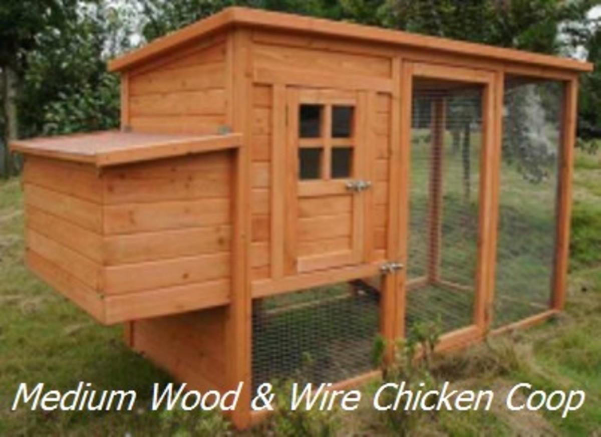 Medium Size Wood & Wire Chicken Coop