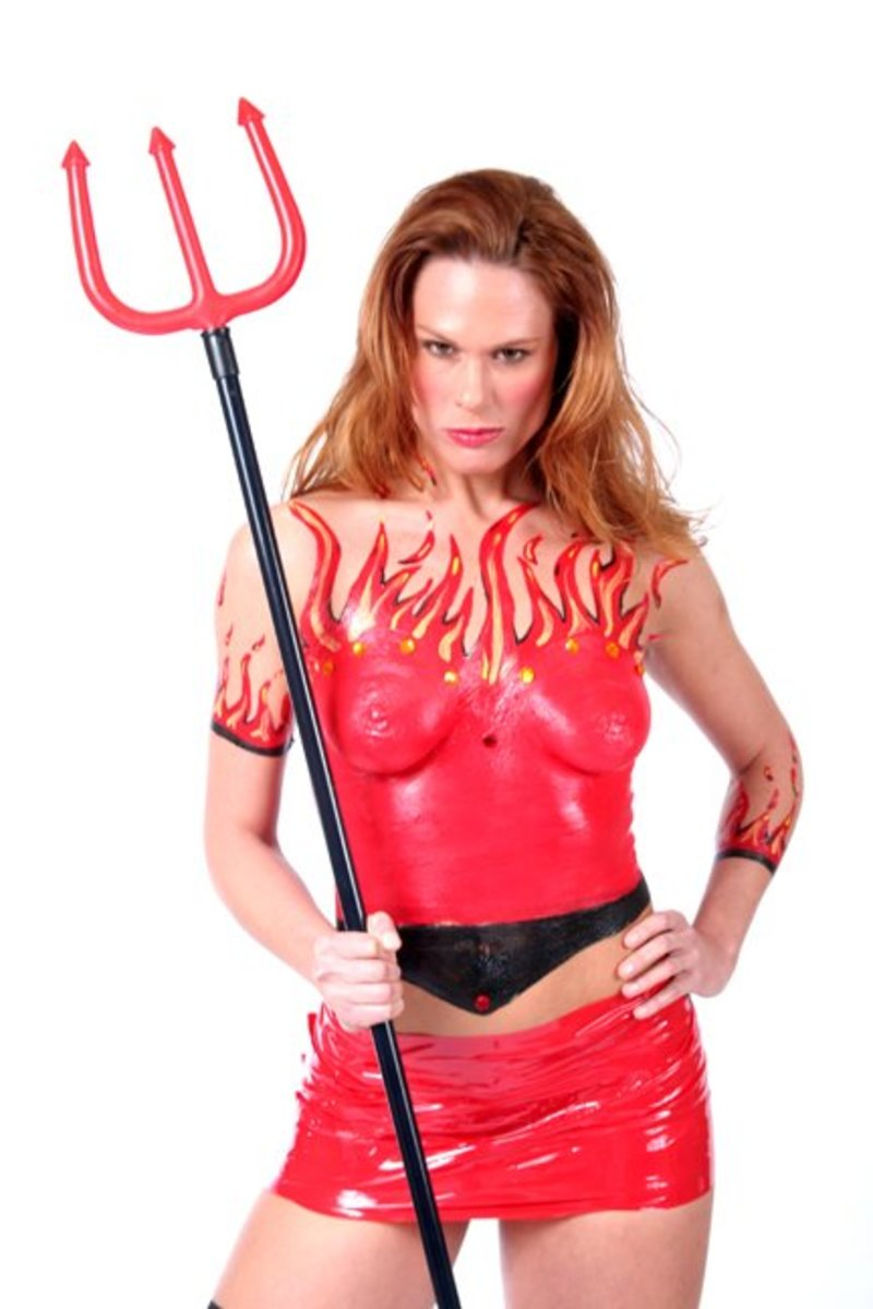 Sexy Devil costume made with Liquid Latex Fashions Body Paint Costume Kit from Liquid Latex Fashions: http://liquidlatexonline.com/sexydevilcostume.aspx