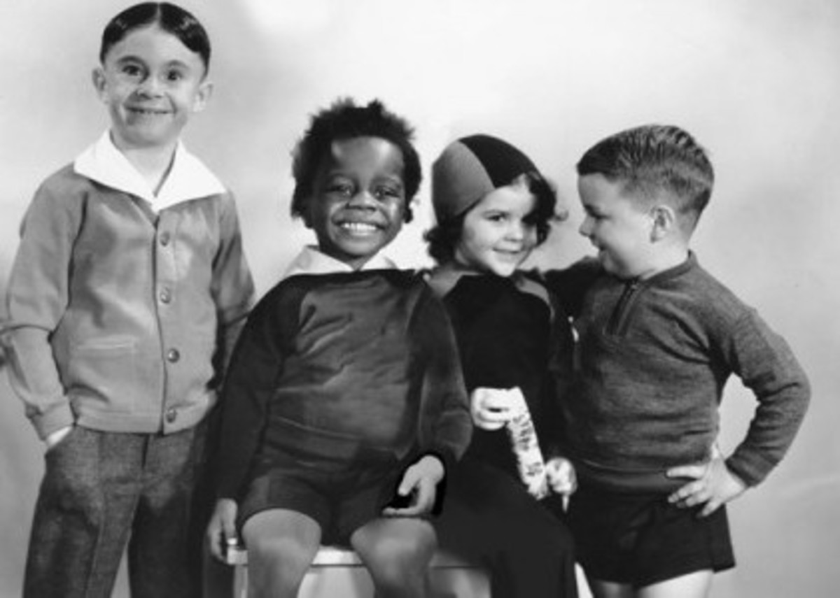 Pictured left to right: Alfalfa, Buckwheat, Darla, and Spanky.