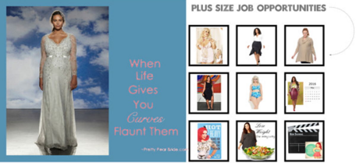 Some of the exciting jobs plus-sized models can do.