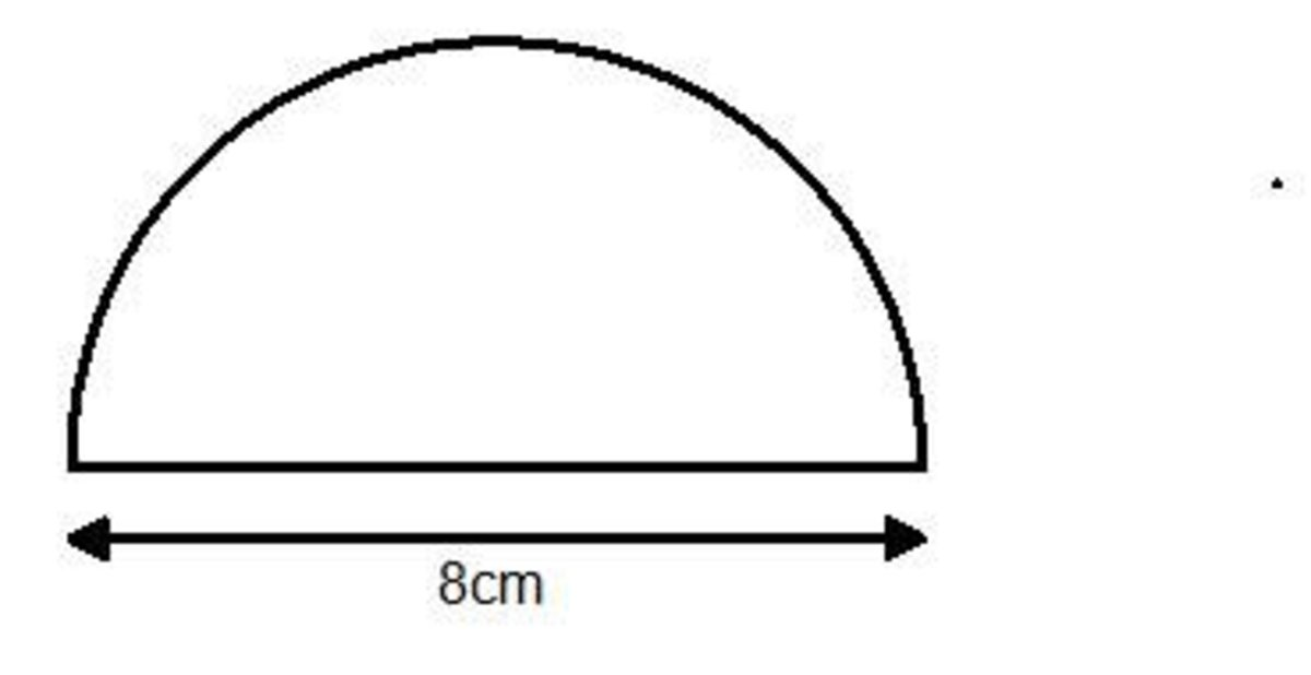 Area of a semicircle. Finding the area of semi circles.