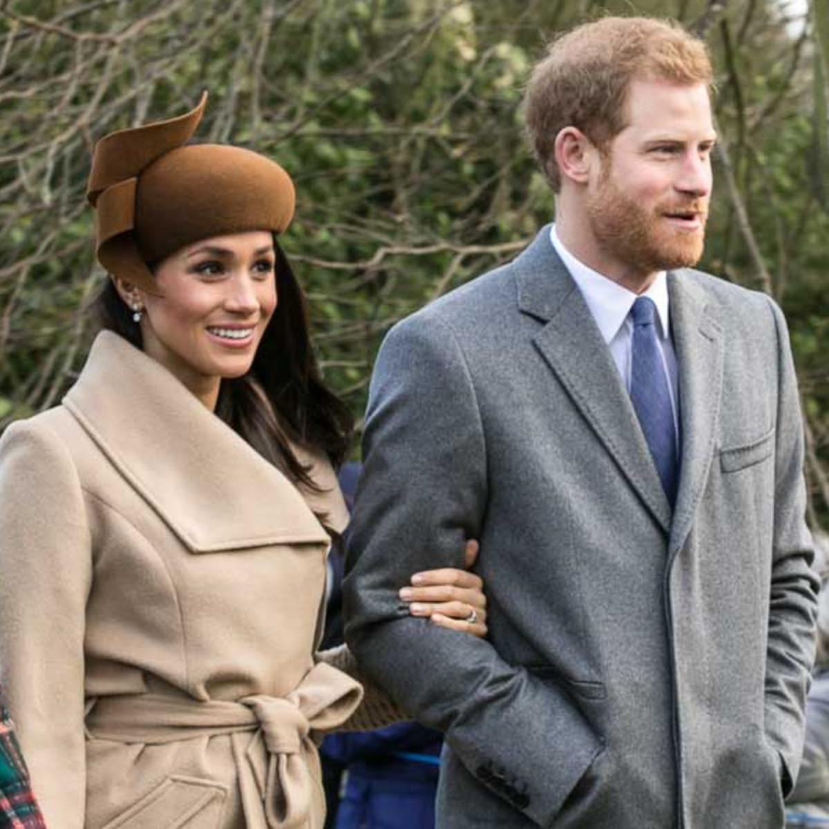Prince Harry and Meghan Markle, Christmas Day 2017.