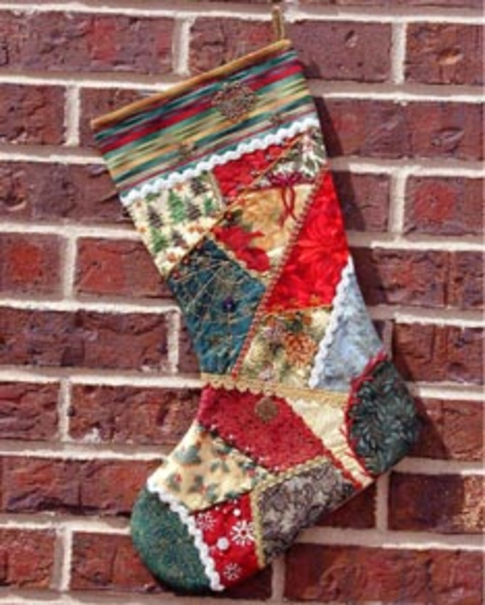 Quilted Christmas Stocking Pattern Free Quilt Stocking Pattern