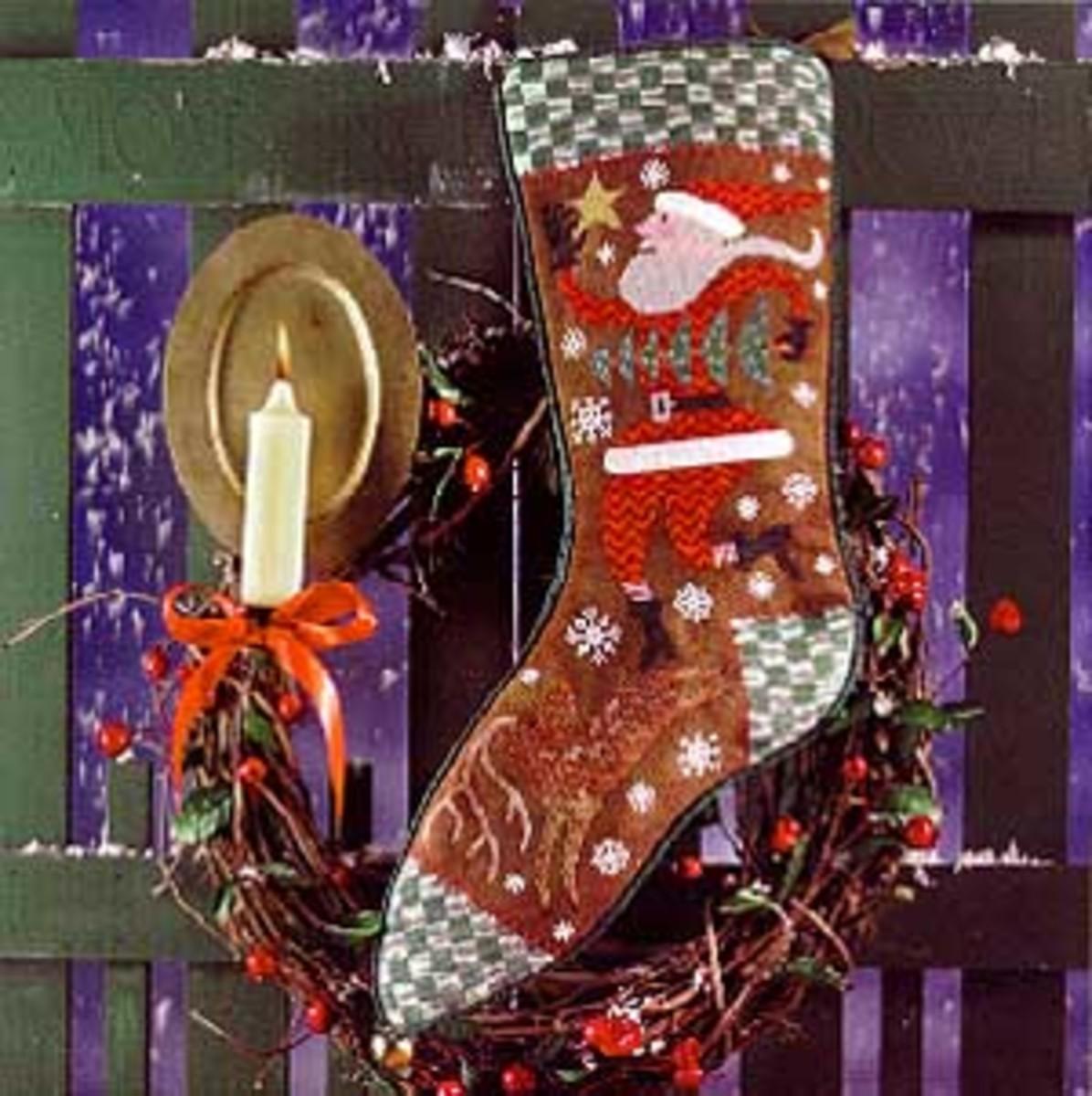 Embroidered Christmas Stockings Kits
