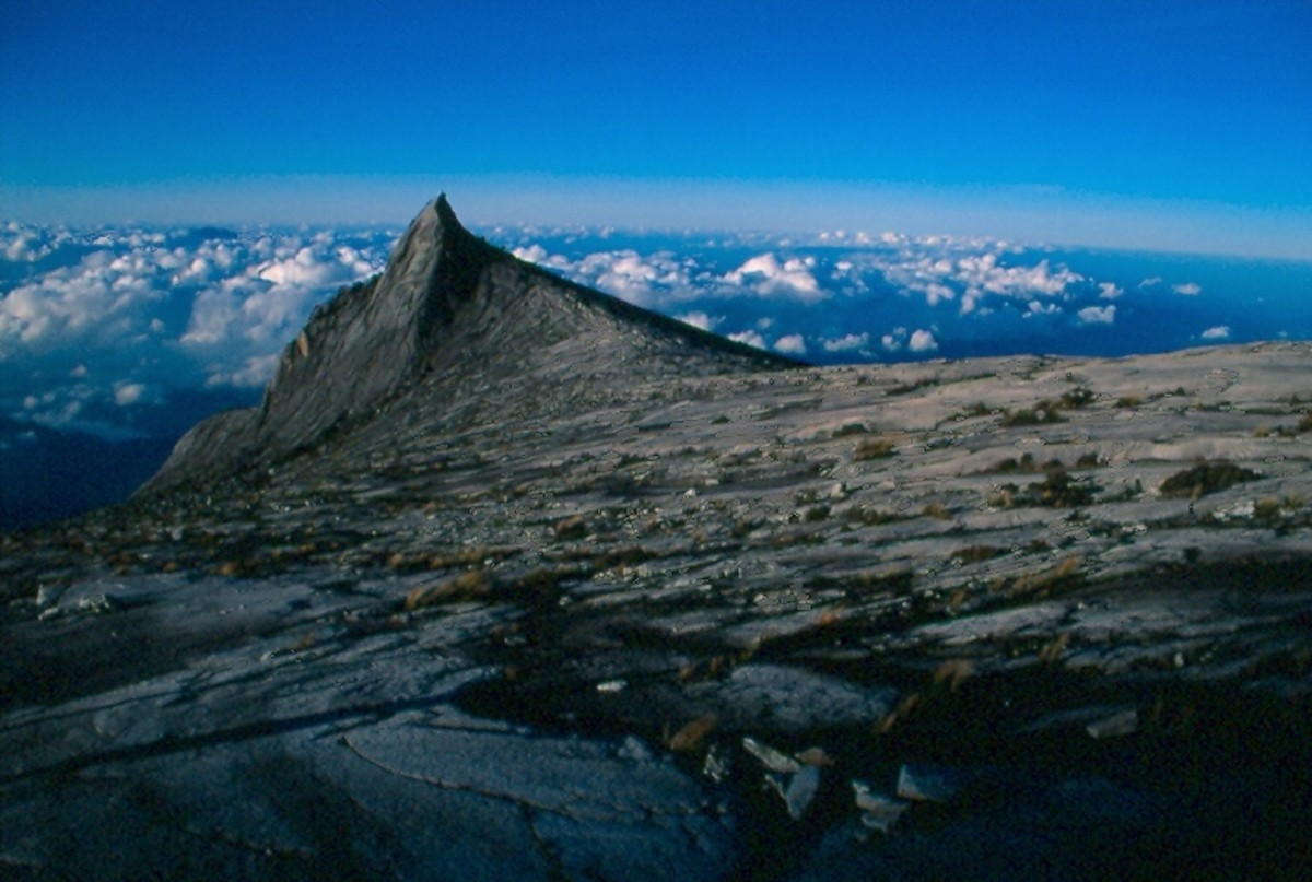 South Kinabalu Peak (12902') from the approach to Lows Peak.