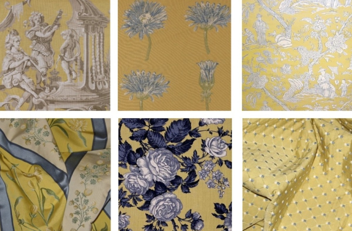 Blue and yellow fabrics courtesy of