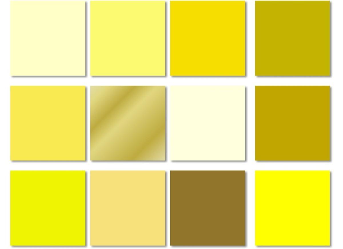 Popular shades of yellow