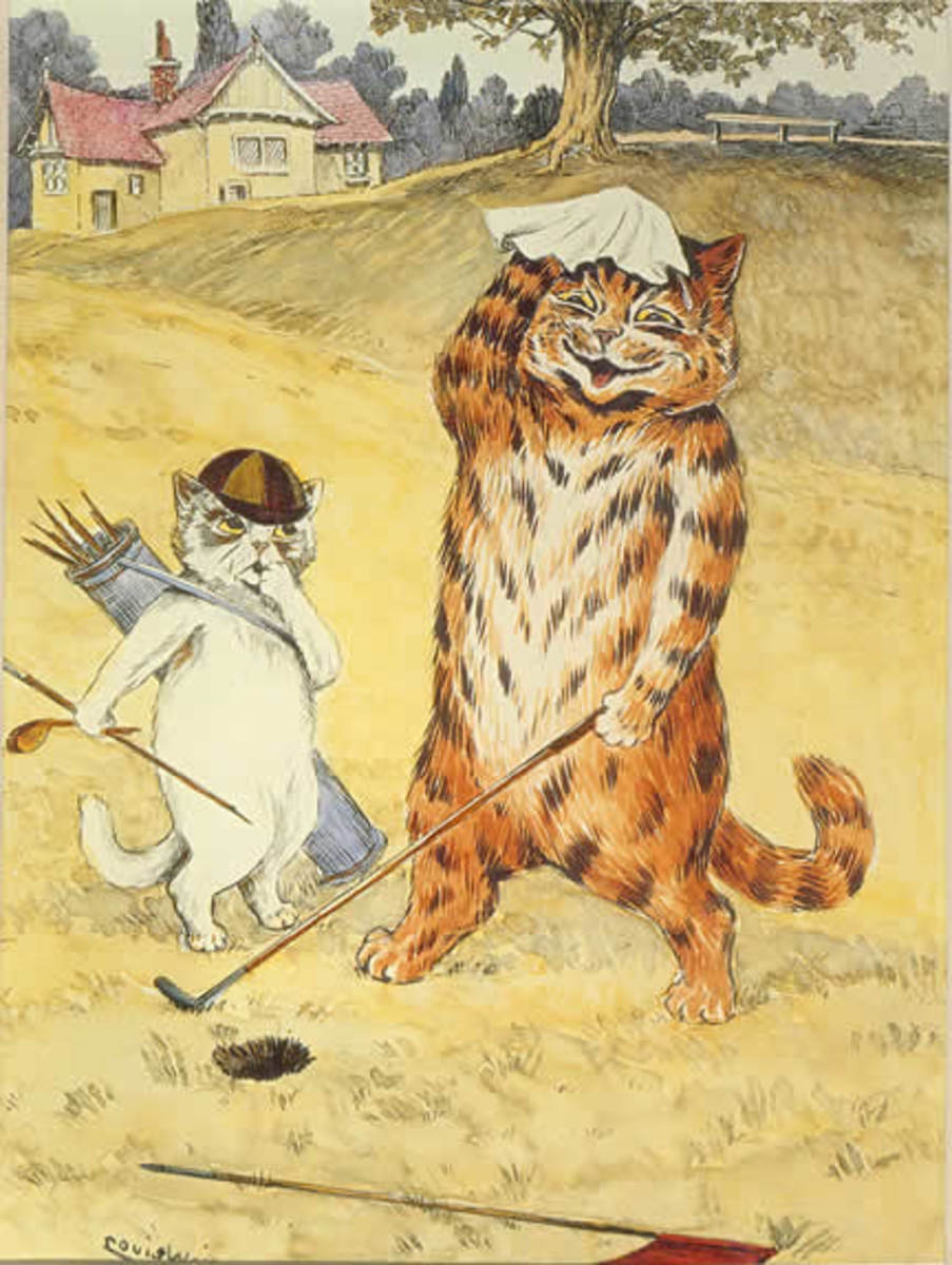 Cats on the Green by Louis Wain, courtesy of Wiki Commons