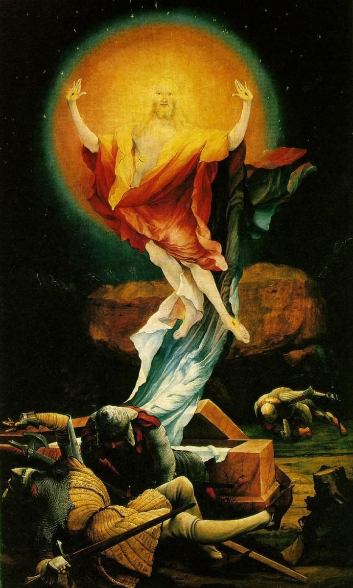 """MATTHIAS GRUNEWALD """"THE RESURRECTION"""" 1515 (MUSEE UNTERLINDEN, COLMAR, GERMANY)"""