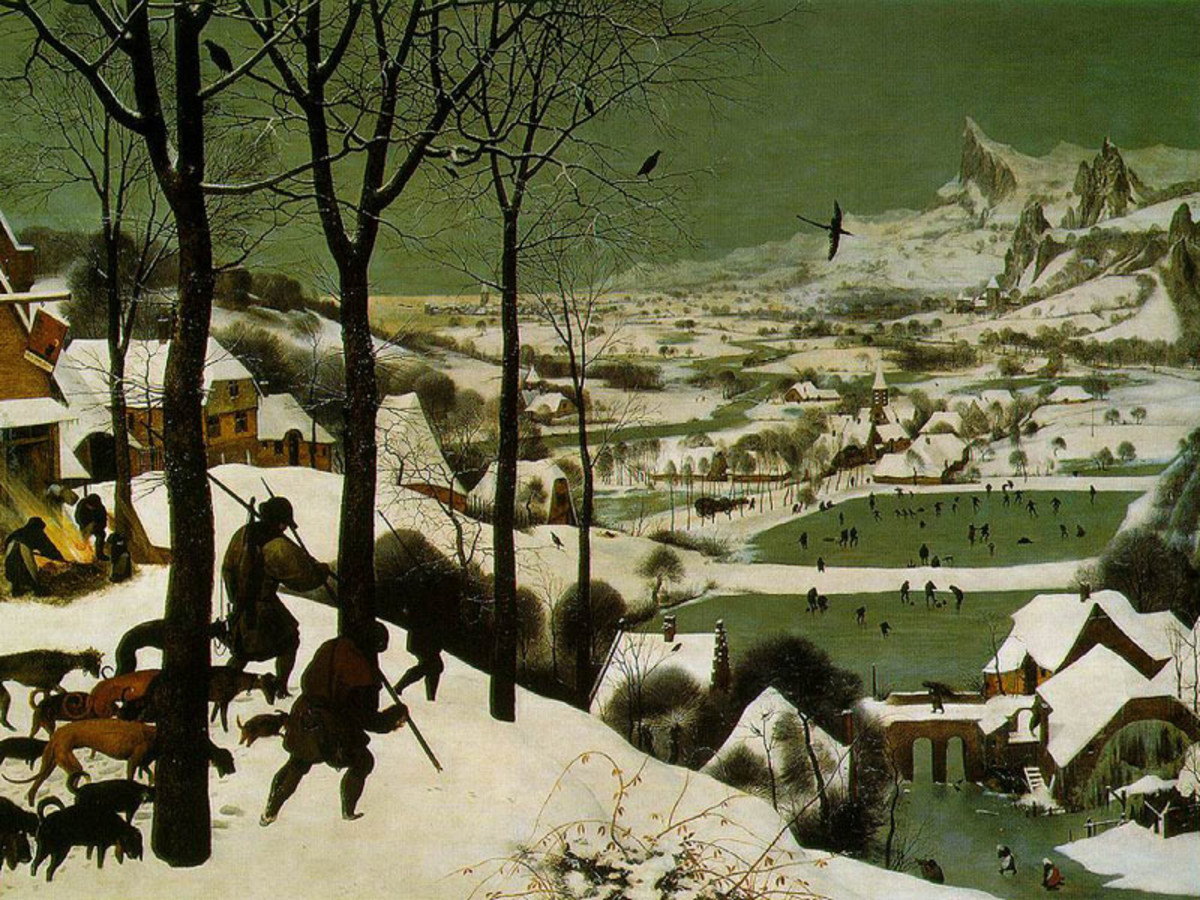 "PIETER BRUEGEL THE ELDER ""THE RETURN OF THE HUNTERS"" 1565 (KUNSTHISTORISCHES, VIENNA)"