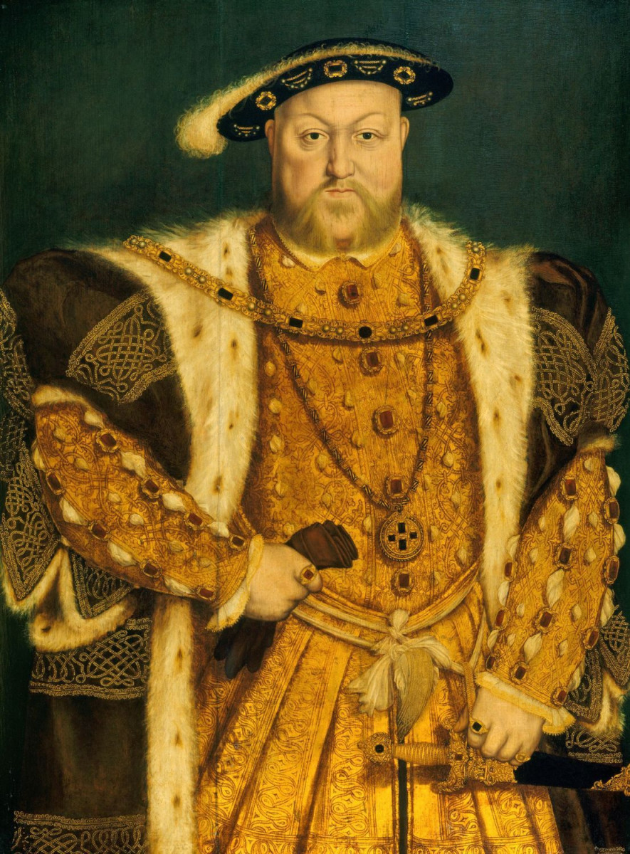 """HANS HOLBEIN THE YOUNGER """"HENRY VIII"""" 1540 (NATIONAL GALLERY, ROME)"""