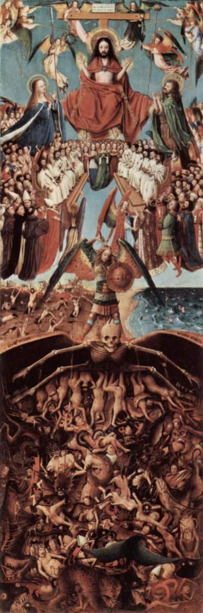 """VAN EYCK """"THE LAST JUDGMENT"""" 1425 (METROPOLITAN MUSEUM OF ART, NEW YORK)"""