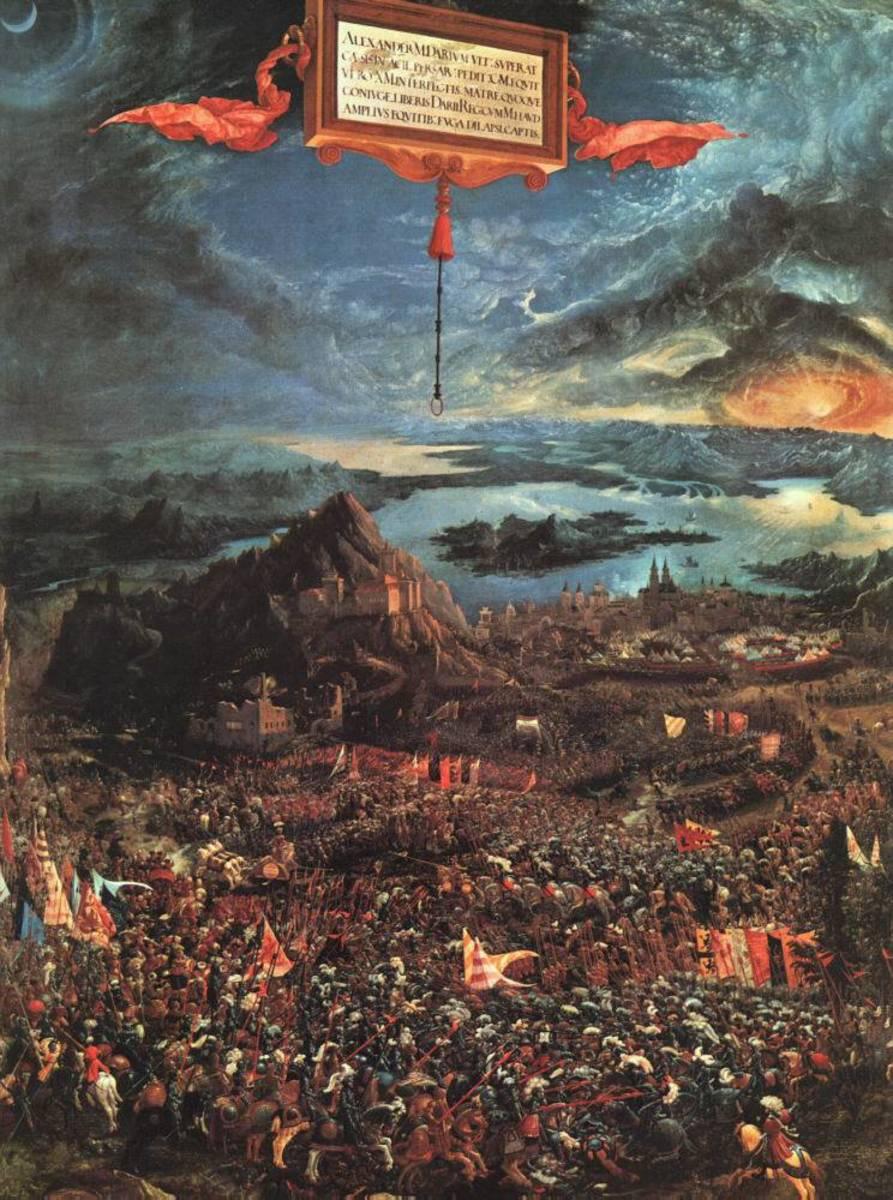 "ALBRECHT ALTDORFER ""THE BATTLE OF ISSUS"" 1529 (ALTE PINAKOTHEK, MUNICH)"