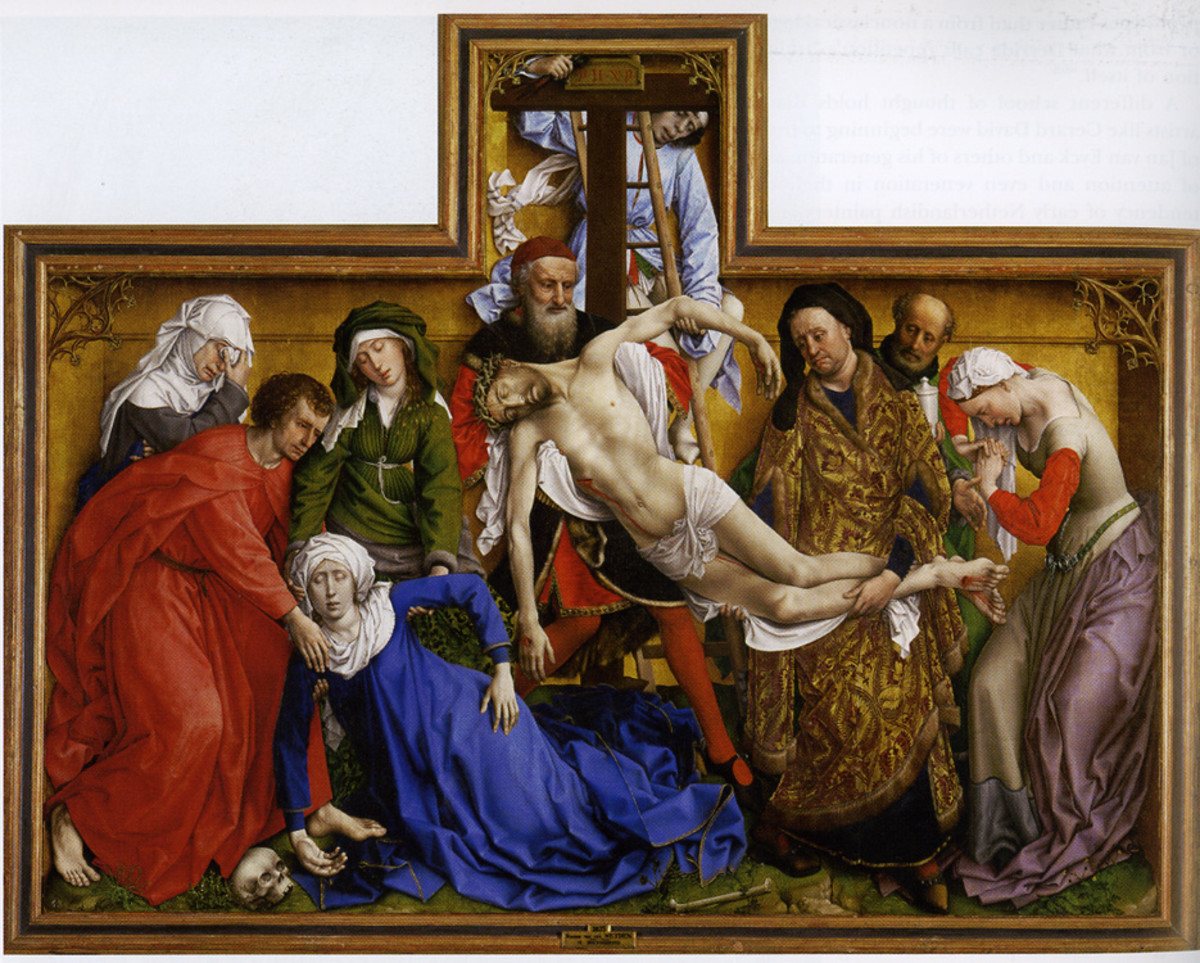 "ROGER VAN DER WEYDEN ""DESCENT FROM THE CROSS"" 1435 (PRADO, MADRID)"