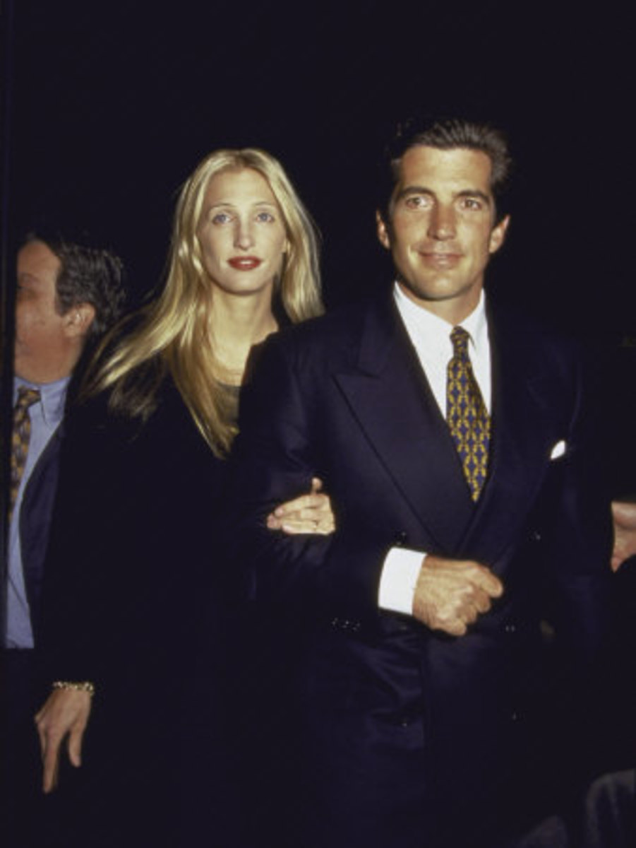 JFK Jr and wife Carolyn at George's 2nd anniversary party