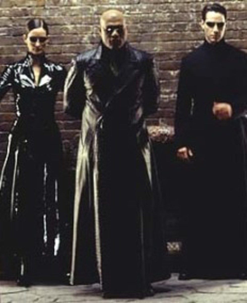 You are neither Neo, Trinity nor Morpheus. This is not the look to aim for ...