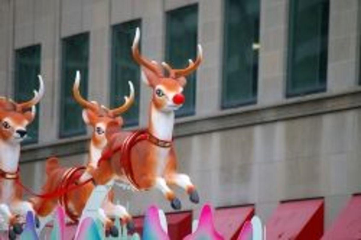 Santa's reindeer flying high