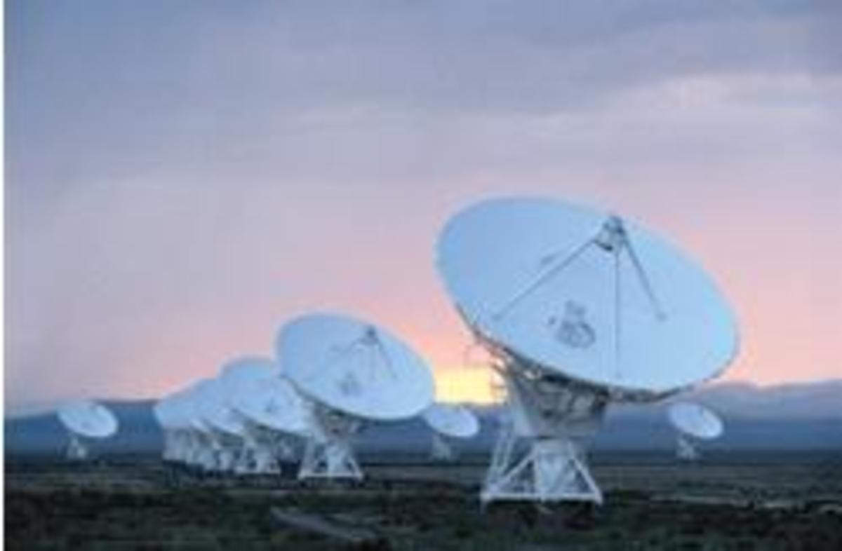 The communications systems, several parabolic antennas are utilized here to receive and transmit signals. Photo from: precisionmicro.com