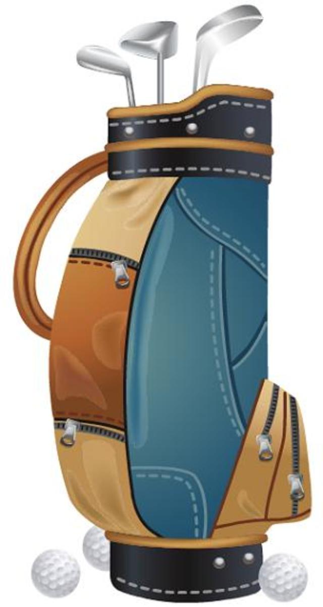 Golf bag clip art
