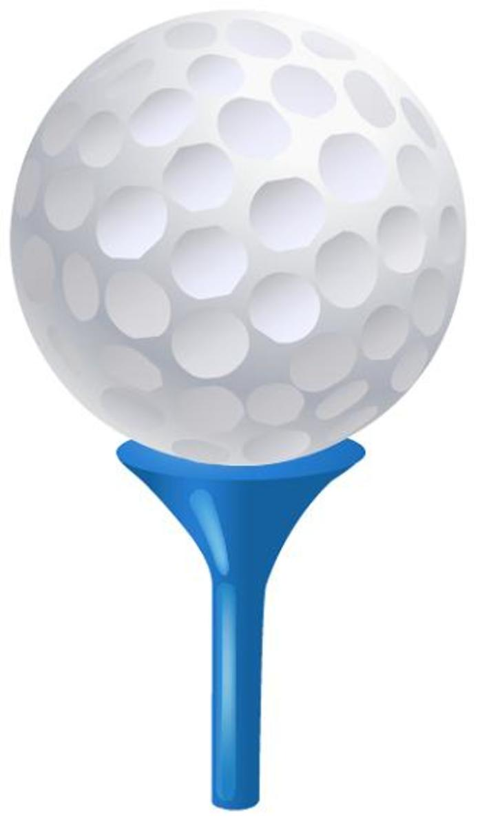 golf ball on a tee clip art