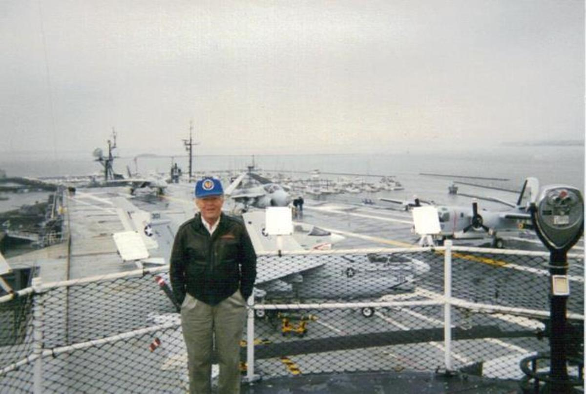 Bob touring the USS Yorktown.