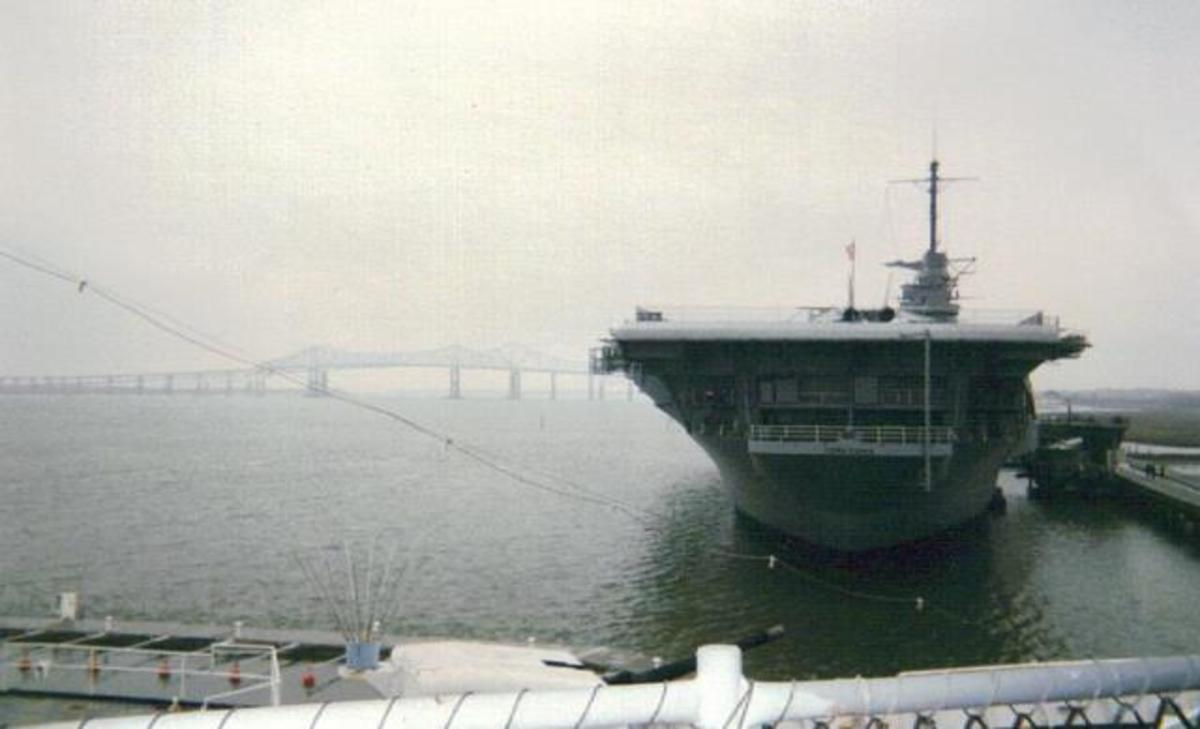 USS Yorktown Aircraft Carrier is now a floating museum at Patriot's Point, SC.