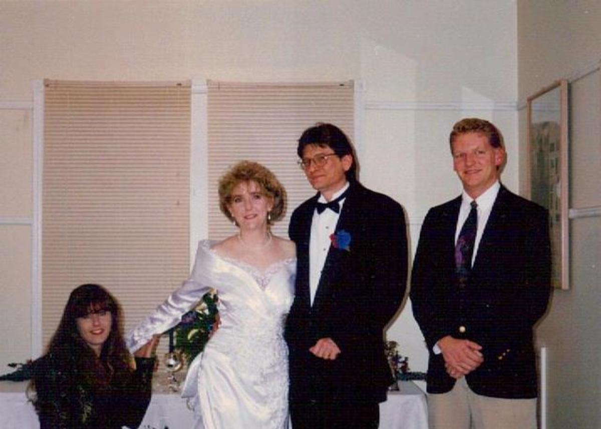 A Christmas wedding on Tybee Island - 1994