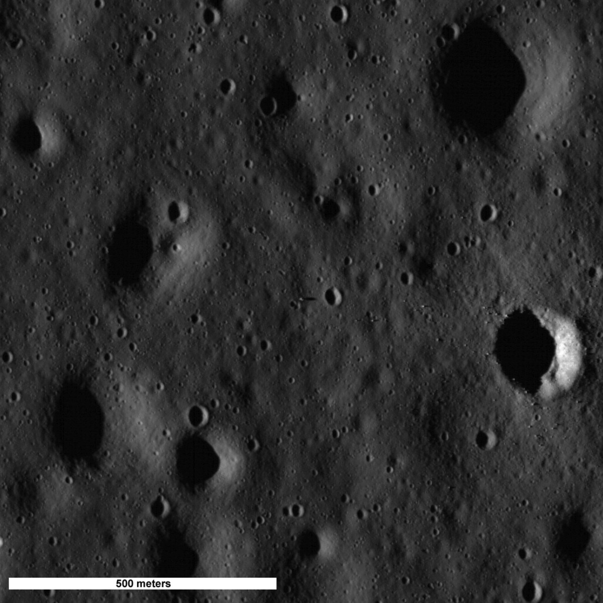 July 2009. First Image of Apollo 11 Site. It's tiny, but this was our first photo of the landing site since the astronauts left!