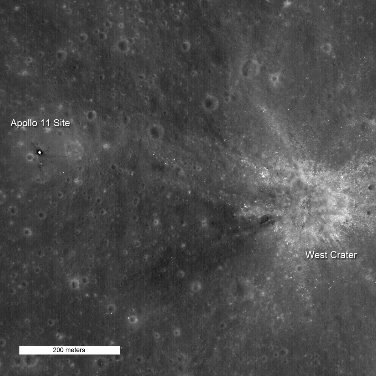 November 2009. Third Image of Apollo 11 Site.