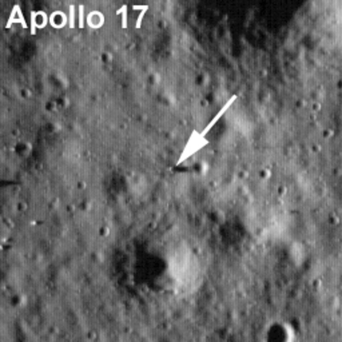 July 2009 - First photo of Apollo 17 landing site, zoomed in.