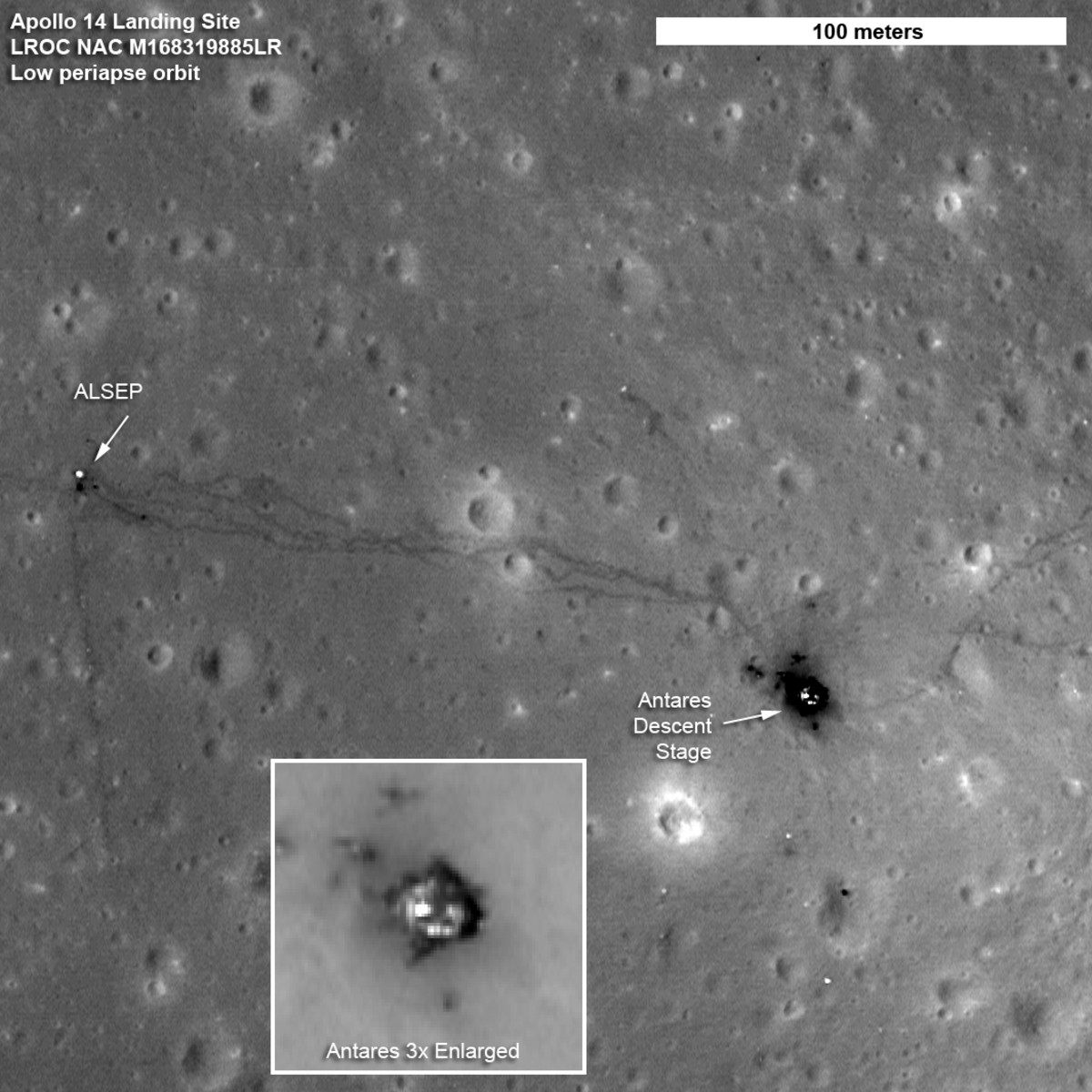 September 2010: Nice! Special maneuver brought the LRO down from about 31 miles above the surface to nearly 13 miles.